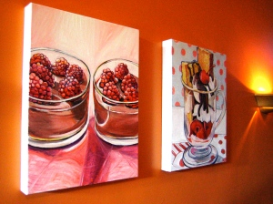 Two Food Paintings by Barbara Harshman