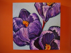 Crocuses by Barbara Harshman