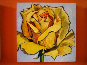 Yellow Rose by Barbara Harshman